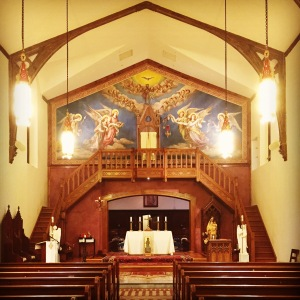 "The ""public"" side of the chapel at Most Blessed Sacrament Friary"