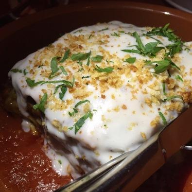 Lasagna (layered spinach pasta, ragu antico, béchamel, parmigiano reggiano)