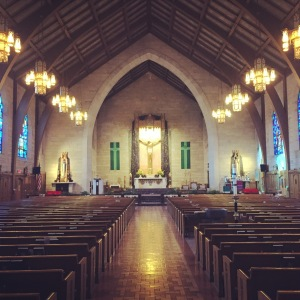 Inside St. Paul's Roman Catholic Church in Princeton, NJ