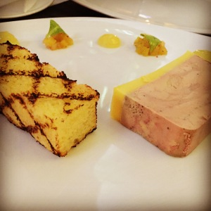 Hudson Valley Foie Gras Terrine (braised pineapple, Meyer lemon jam, & grilled brioche)