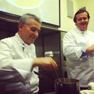 Chefs Valentino Marcattilii & Michael White (Mentor & Protege)