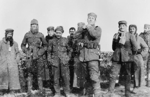 A photo from the Christmas Truce of 1914 during World War I
