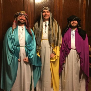 The Three Kings: Joseph Cirillo as Melchior, Myself as Balthazar, & Joseph Lucia as Gaspar