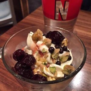 B'ville Sundae (vanilla gelato, amarena cherries, chocolate pearls, pistachio toffee)