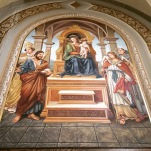 A mural in sanctuary of Our Lady of Grace