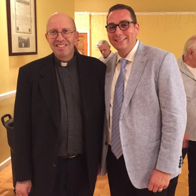 With our Knights of Columbus Chaplain Father Michael Marotta, CRM