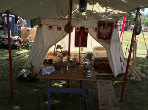 A replica of a 17th Century Polish military encampment