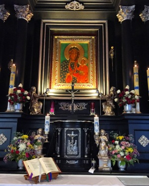 A replica of the miraculous image of Our Lady of Częstochowa