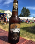 A bottle of Warka Polish Beer
