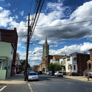 Looking down 3rd Avenue toward St. Anthony of Padua Roman Catholic Church in Peterstown, Elizabeth's Little Italy.