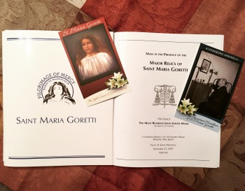 Mass booklet & prayer cards of Saint Maria Goretti & Alessandro Serenelli