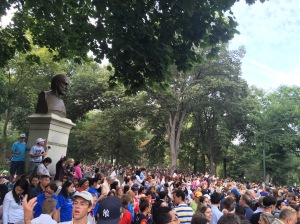 The excitement in Central Park was palpable.