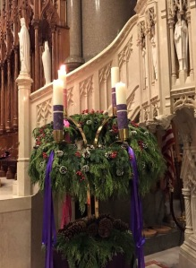 Advent Wreath at the Cathedral Basilica of the Sacred Heart in Newark, NJ